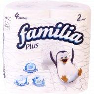 Бумага туалетная «Familia Plus» белая, 4 шт.