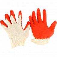 Перчатки трикотажные с натуральным латексным обливом.