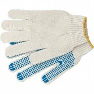 Перчатки трикотажные, антискольжение, ПВХ-покрытие