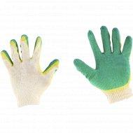 Перчатки трикотажные с двойным латексным обливом.