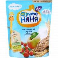 Каша пшеничная «Фруто Няня» молочная, яблоко и земляника, 200 г.