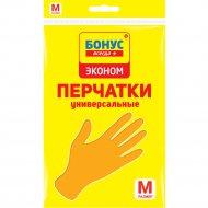 Перчатки резиновые универсальные «Бонус» размер M, 1п.