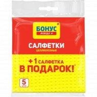Салфетки целлюлозные для уборки «Бонус» 4+1 шт.