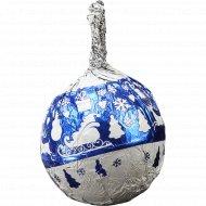 Шоколадное изделие «Синие шарики со снежинками» 12 г.