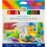 Карандаши цветные «Гамма» классические, 24 цвета.