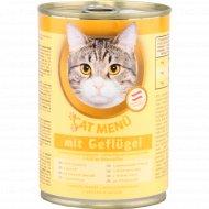 Корм для кошек «Cat menu» с домашней птицей 415 г.