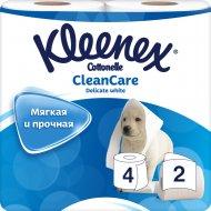 Туалетная бумага «Kleenex» белая, двухслойная, 4 рулона.