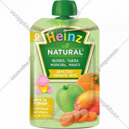 Пюре «Heinz» яблоко, тыква, морковь и манго, 90 г.