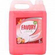 Средство для мытья посуды «Favory» грейпфрут, 5 л
