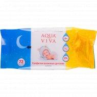 Салфетки влажные детские «Aqua Viva» алоэ 72 шт.