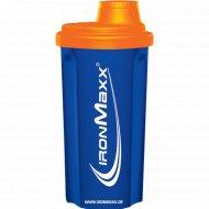 Шейкер «IronMaxxr» сине-оранжевый, 700 мл.