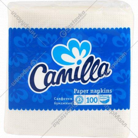 Салфетки бумажные «Camilla» 100 листочков.