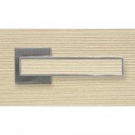 Ручка дверная «Адель» SN, Лиственница крем P