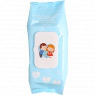 Cалфетки влажные детские, антибактериальные «Aqua viva» АВ1400, 72 шт.