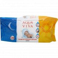 Cалфетки влажные детские алоэ «Aqua viva» АВ1700, 120 шт.