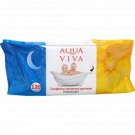 Cалфетки влажные детские, ромашка «Aqua viva» АВ1800, 120 шт.