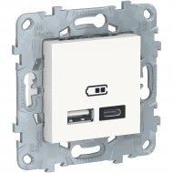 Розетка USB «Schneider Electric» Unica New, NU501818
