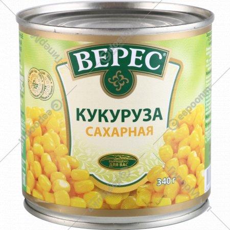 Кукуруза сахарная из целых зерен «Верес» 340 г.