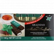 Темный шоколад «Maitre Truffout» с мятной начинкой 100 г.