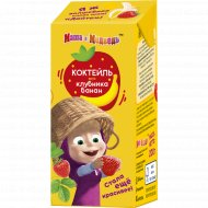 Коктейль молочный «Маша и Медведь» 2.3%, клубника-банан, 200 г