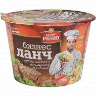 Лапша яичная «Биг Ланч» с ароматной говядиной, 90 г.