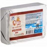 Сыр плавленый пастообразный «Оршанский плюс» 45%, 80 г.