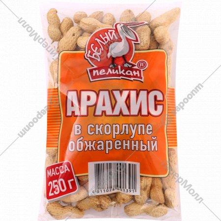 Арахис в скорлупе «Белый Пеликан» обжаренный, 250 г.
