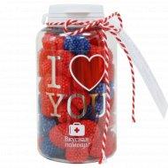 Набор конфет «Вкусная помощь» Я люблю тебя, 150 г.