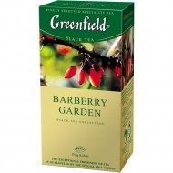 Чай чёрный «Greenfield» Barberry Garden, 25 пакетиков.