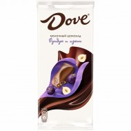 Молочный шоколад «Dove» с изюмом и дробленым фундуком, 90 г.