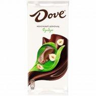 Шоколад молочный «Dove» с дробленым фундуком, 90 г.