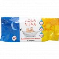 Cалфетки влажные детские, ромашка «Aqua viva» АВ8413, 72 шт.