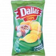 Картофельные чипсы «Dallas» со вкусом грибов со сметаной 75 г.