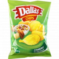 Картофельные чипсы «Dallas» грибы-сметана, 140 г.