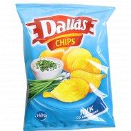 Картофельные чипсы «Dаllas» с луком и сметаной, 140 г.