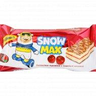 Бисквитное пирожное «Snow Max» c вишневой начинкой, 30 г.