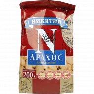 Арахис жареный «Никитин» очищенный,солёный, 200 г