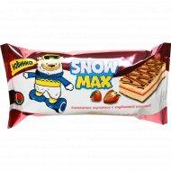 Пирожное бисквитное «Snow Max» с клубникой, 30 г.