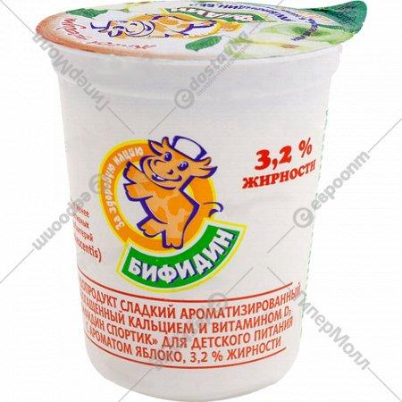 Бифидопродукт «Бифидин-Спортик» яблоко, 3.2 %, 200 г.