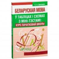Книга «Беларуская мова ў таблiцах з мiнi-тэстамi» 112 страниц.