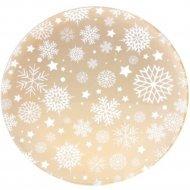Блюдо круглое «Belbohemia» Снежинки, 30 см