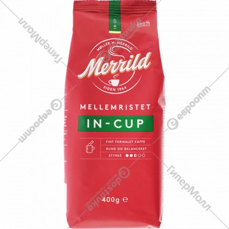 Кофе молотый «Merrild» In-Cup, 400 г.