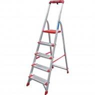 Лестница-стремянка «Новая высота» профессиональная, 1x5, 225кг, лоток