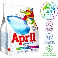 Порошок стиральный «April Evolution» color protection, автомат, 3 кг.