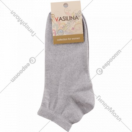Носки женские «Vasilina» серые, размер 23-25.