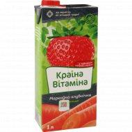 Нектар «Краіна Вітаміна» морковно-клубничный с мякотью, 1 л.
