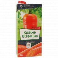 Нектар морковный «Краіна Вітаміна» с мякотью, 1 л.