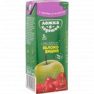 Сок «Ложка в ладошке» яблочно-вишневый, 200 мл