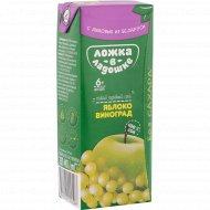 Сок «Ложка в ладошке» яблочно-виноградный, 200 мл
