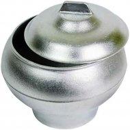 Горшок печной алюминиевый литой с крышкой объём 1.5 л.
